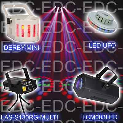 Pack 4 Jeux De Lumiere Led  Laser Dj Light Moon Flower Derby Anniversaires Dj