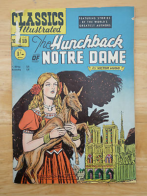 Classics Illustrated No 18 The Hunchback Of Notre Dame - V. Hugo (HRN 82) UK '53
