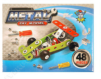 Metal Diy Model Race Car 48 Pieces Kids Gift Toy Formula 1 Construction Kit