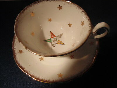 order of the eastern star,cup & saucer