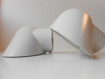 Rare pair of Nordisk Solar Compagni white wall sconces lamps danish modern 1970s