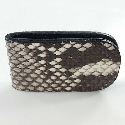 1 x MONEY CLIP NOTE CARD HOLDER MADE FROM GENUINE PYTHON SNAKE SKIN. RARE ITEM.