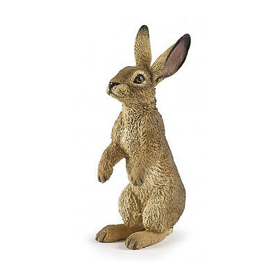 Papo 50202 Tan Standing Hare Rabbit Model Animal Figurine Toy 2016 - NIP