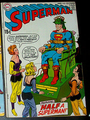 SUPERMAN #223 (FN) The Galactons! Classic DC Issue! Clark Kent