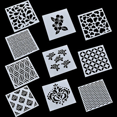 Leaves Heart Wave Layering Stencils Template Rose Crown DIY Making Tool Craft