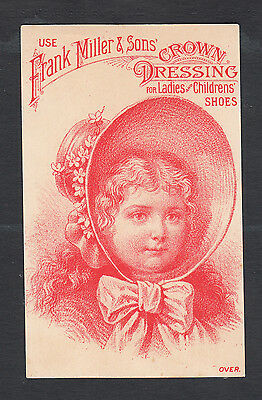 Morrisville, NY 1880s Victorian Adv. Trade Card Crown Dressing ...#652R