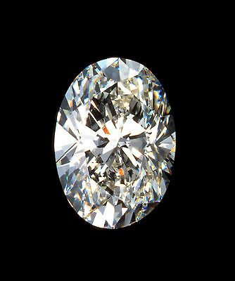 2.54ct Crystal Carbon  OVAL Synthetic Stone.Replaces Diamond Moissanite