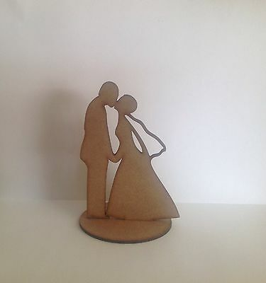 10 X Wooden Craft Shapes Bride And Groom Decoration