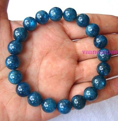 Natural Apatite Round Beads Stretch Bracelet 10mm/10.5mm