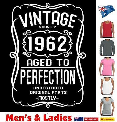 60th Birthday born 1958 Funny T-Shirt Vintage Present gift Aussie Store size new