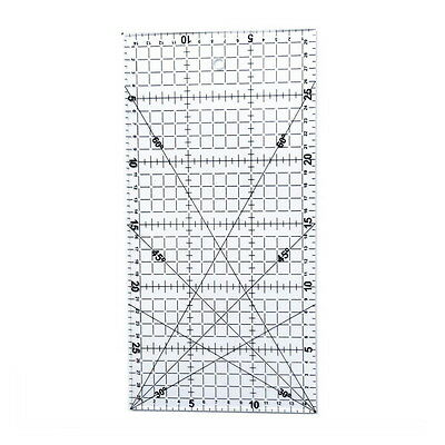 30*15cm Quilting Sewing Patchwork Foot Aligned Ruler Grid Tailor Craft Scale #JK