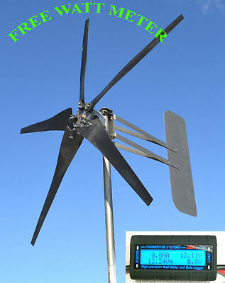 Wind Turbine Generator - Residential- Up 1000 watts PROVEN LOW WIND PACKAGE 24V