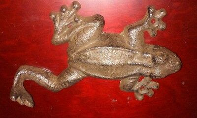 New Cast Iron Rustic Brown Frog/toad Key/towel Home Decor Hook