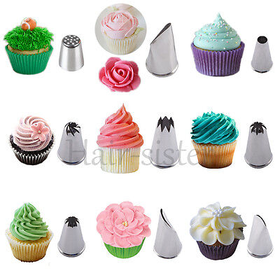 Cake Decorating Tips Nozzles Cupcake Pastry Swirls Sugarcraft  Icing Piping Tool