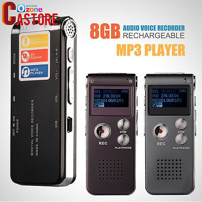 Digital Audio Voice Recorder Rechargeable Dictaphone TelephoneMP3Playe WineRed