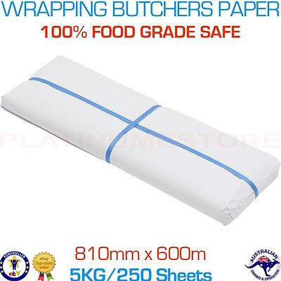 5kg Wrapping Packing Paper 600 x 810mm White Butchers 250 Sheets FREE Post