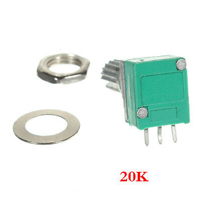 20 K Ohm linear Rotary Pot-Potentiometer mit Mutter & Distanz A1