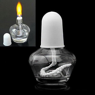 60ml Alcohol Burner Burning Lamp Durable Clear Glass Lab Equipment Heating New