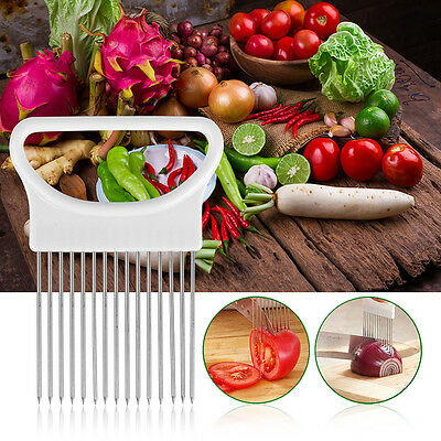 Tomate cebolla vegetal fruta cortador de cocina Holder Cutter Slicer Kitchen Kit