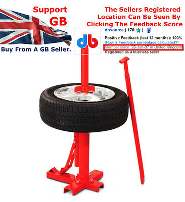 Rocwood Manual Portable Car Bike Tyre Changer Bead Breaker FOC Next Day Delivery