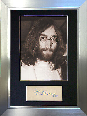 JOHN LENNON Beatles Signed Autograph Mounted Photo Repro A4 Print 254