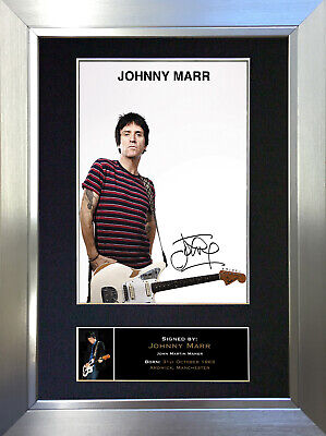 JOHNNY MARR Signed Autograph Mounted Photo Repro A4 Print 326
