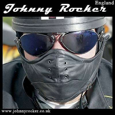 Johnny Rocker Classic davida leather open face mask