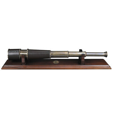 NEW Authentic Models Bronze Spyglass & Stand