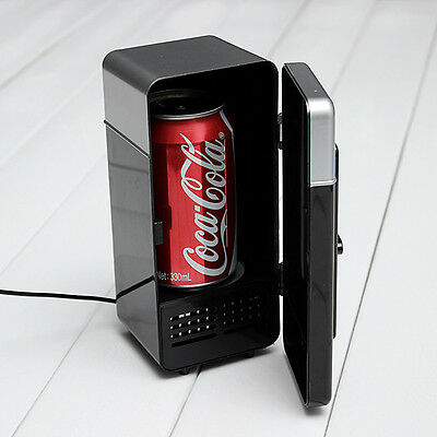 Fashion USB Mini Single Desk Fridge Soda & Drink Warm/Cold  for Laptop PC