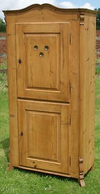 A Beautiful East German Stripped Pine Food Cupboard  With Inside Drawer