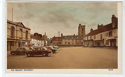 THE SQUARE, WESTBURY: Wiltshire postcard (C20701)