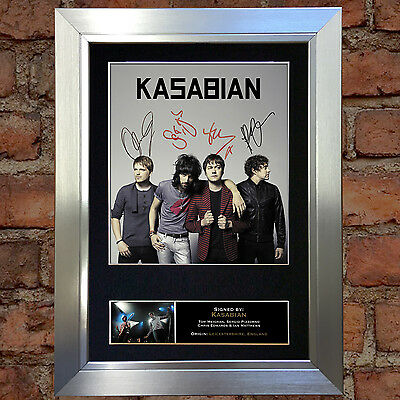 KASABIAN Signed Autograph Mounted Photo Reproduction A4 Print 119