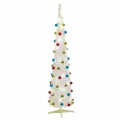 6Ft Pop Up Christmas Festive Tree With 60 Leds