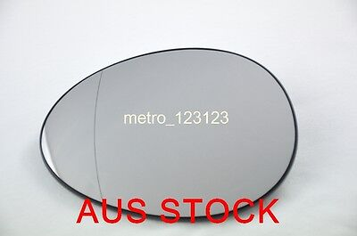Left Passenger Side Mini Cooper R56 R57 2007-2015  Mirror Glass With Heater