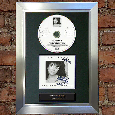 KATE BUSH The Whole Story Signed Autograph CD & Cover Mounted Re-Print A4 56