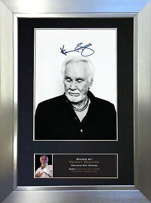 KENNY ROGERS Signed Autograph Mounted Photo Repro A4 Print 361