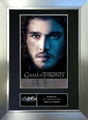 KIT HARRINGTON Game of Thrones Signed Autograph Mounted Repro Photo A4 Print 349