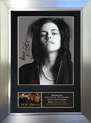 KRISTEN STEWART Signed Autograph Mounted Photo Reproduction A4 Print 21