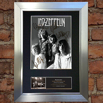 LED ZEPPELIN No2 Signed Autograph Mounted Photo Reproduction A4 Print no512