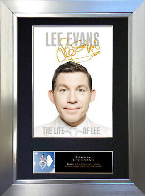 LEE EVANS Signed Autograph Mounted Reproduction Photo A4 Print no100