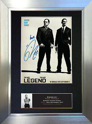 LEGEND Tom Hardy Signed Autograph Mounted Reproduction Photo A4 Print 575