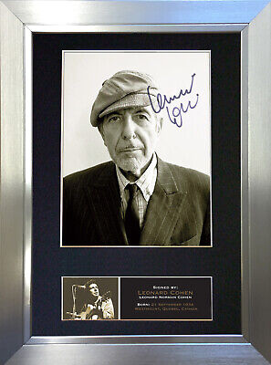 LEONARD COHEN Signed Autograph Mounted Photo Reproduction A4 Print 529