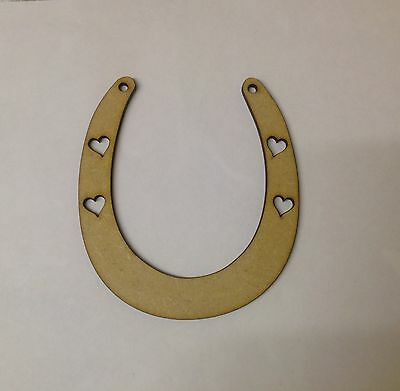 6 X Wooden Horseshoe