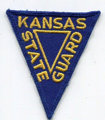 Vintage Kansas State Guard Patch // Used During WW1 & WW2 // Police // Military