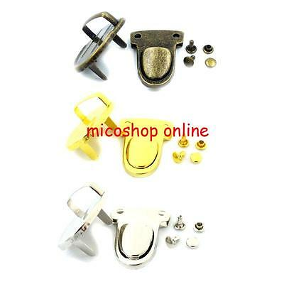 2 5 10 25 Sets Closure Catch Tuck Lock For Hangbag Purse Leather Case Clasp