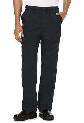 Dickies Mens Cargo Pocket Chef Pant Black DC10 BLK WE SHIP FREE