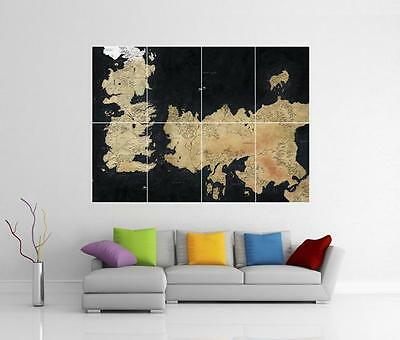 Game Of Thrones Westeros & Essos Map Giant Wall Art Photo Print Poster