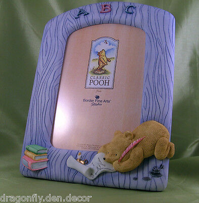 A0683 New In Box RETIRED Winnie The Pooh - Blue ABC Photo Frame Border Fine Arts