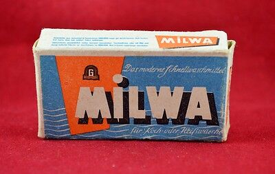 Wehrmacht Wwii German Small Box For Detergent Ration Milwa Rare War Relic
