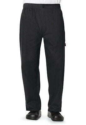 Dickies Mens Traditional Baggy Chef Pant w/ zipper Fly Black DC14